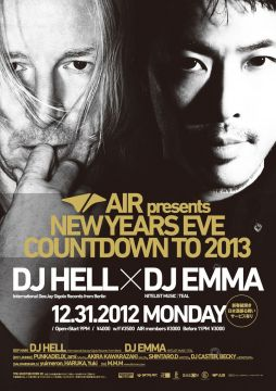 "AIR NEW YEARS EVE PARTY ""COUNTDOWN TO 2013"""