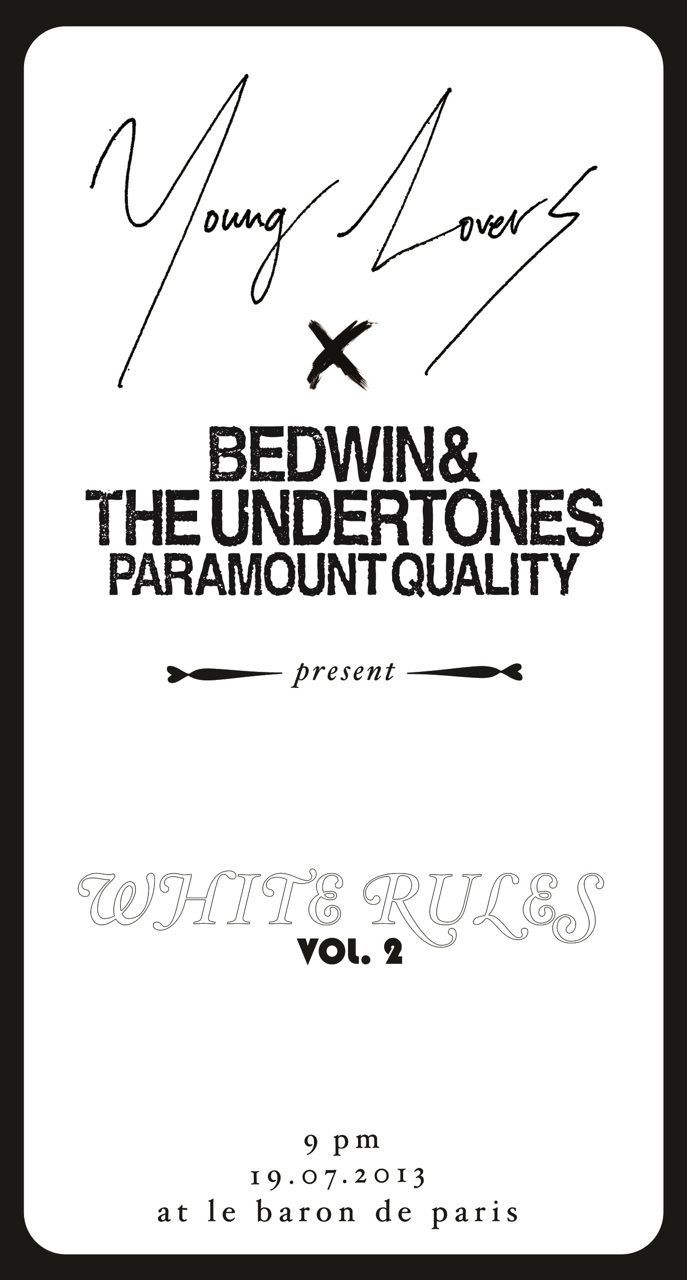 "YOUNG LOVERS × BEDWIN & THE UNDERTONES presents ""WHITE RULES"" vol.2"