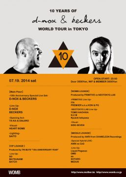 10 YEARS OF D-NOX & BECKERS WORLD TOUR IN TOKYO
