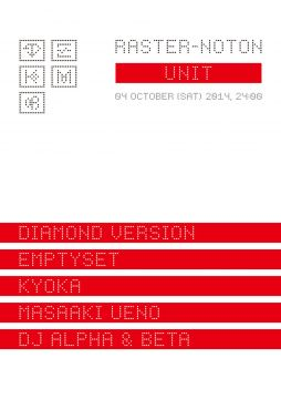 UNIT 10th Anniversary RASTER-NOTON. UNIT 2014