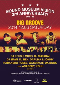 "SOUND MUSEUM VISION 3rd ANNIVERSARY DAY4 ""BIG GROOVE"""