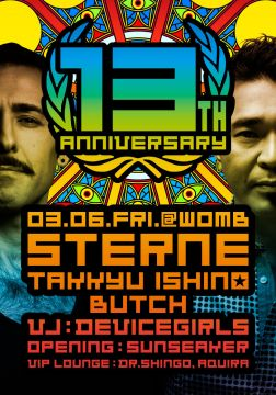STERNE 13th ANNIVERSARY