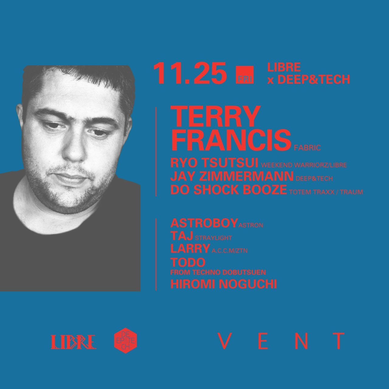 Libre×deep&tech presents Terry Francis