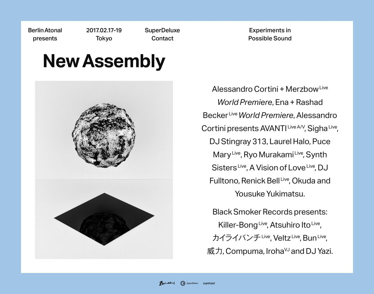 Berlin Atonal presents New Assembly Tokyo - Opening Concert