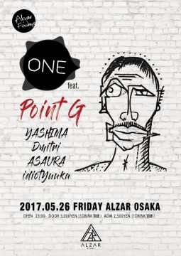 5/26(FRI) ONE feat.Point G ALZAR Friday