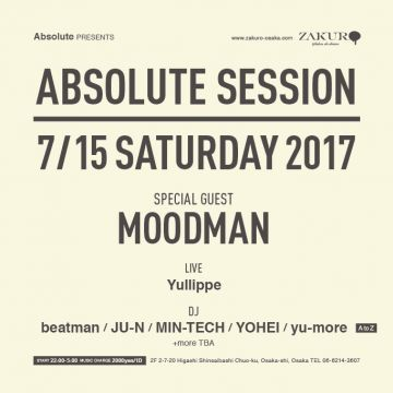 -Absolute Presents -<br>ABSOLUTE SESSION feat. MOODMAN