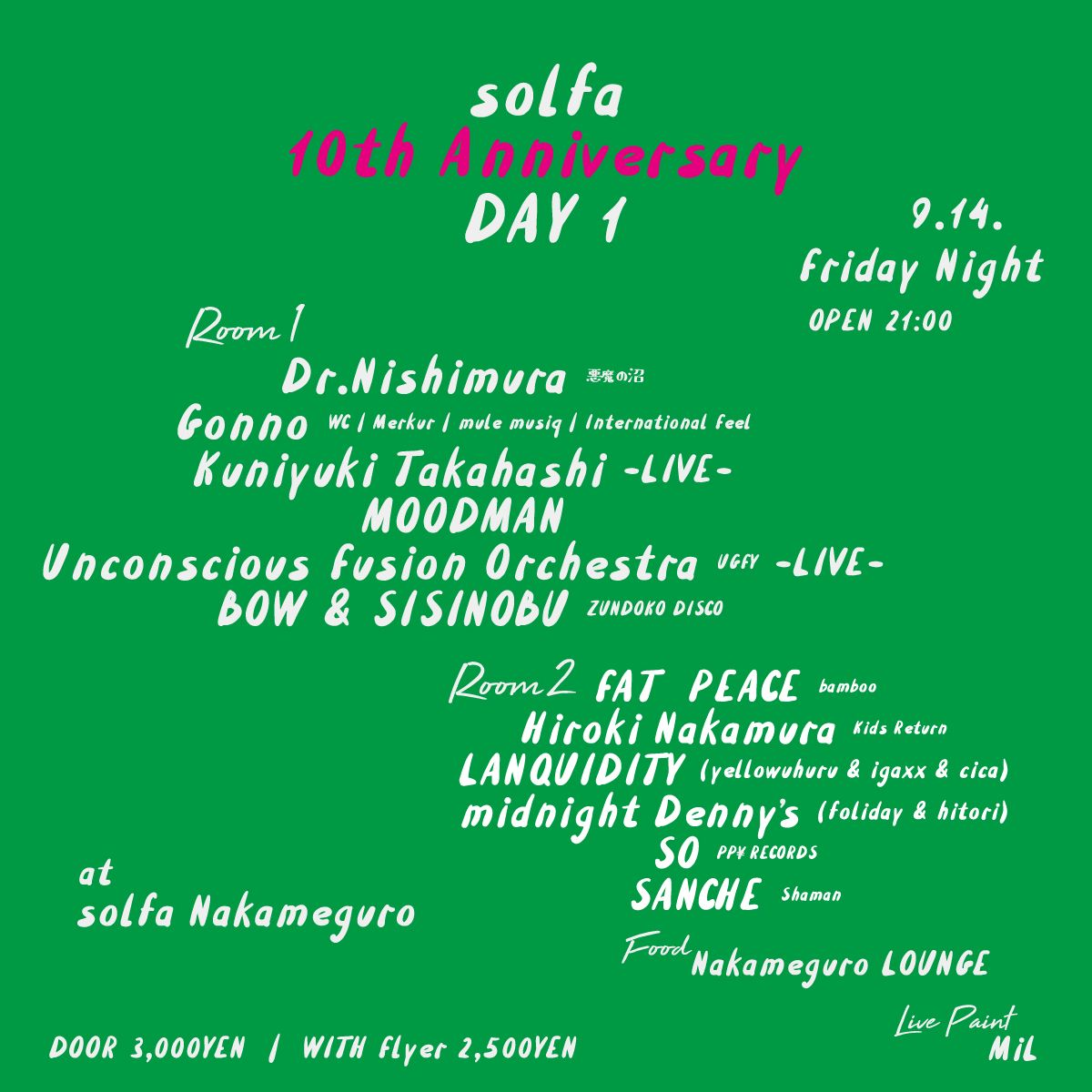 "solfa 10th Anniversary ""DAY 1"" supported by ballaholic"