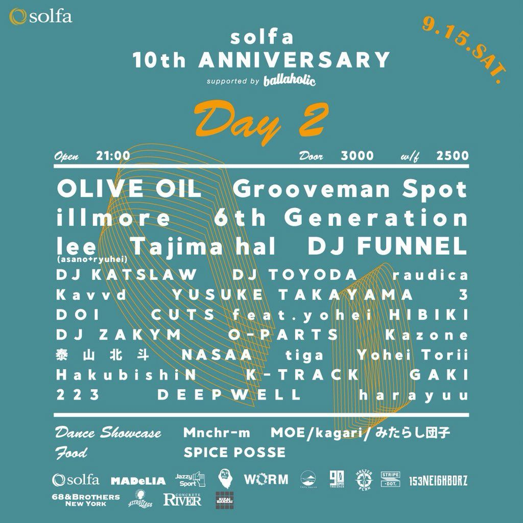 "solfa 10th Anniversary ""DAY 2"" supported by ballaholic"