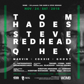 WOMB X CIA presents TOM HADES and STEVE REDHEAD