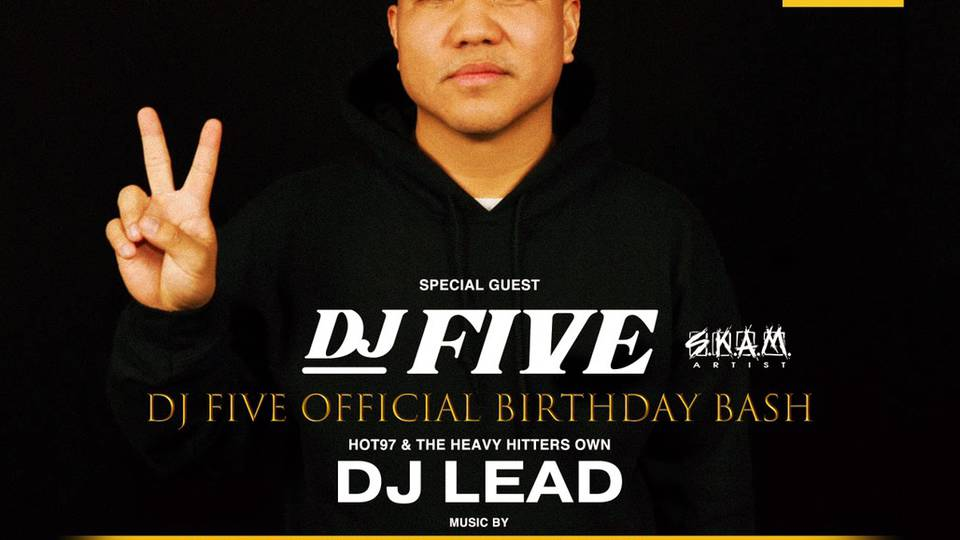 BUTTERFLY SATURDAYS Guest DJ FIVE (SKAM ARTIST)