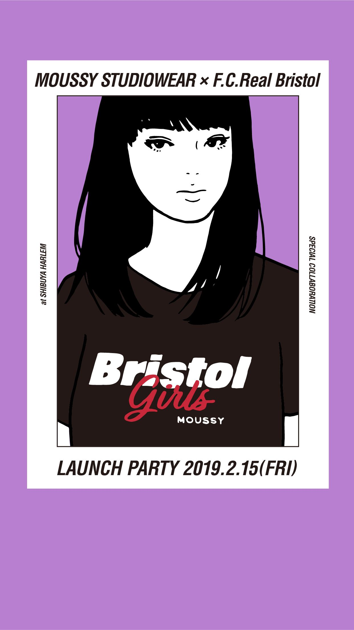 MOUSSY STUDIOWEAR × F.C.Real Bristol Girls LAUNCH PARTY