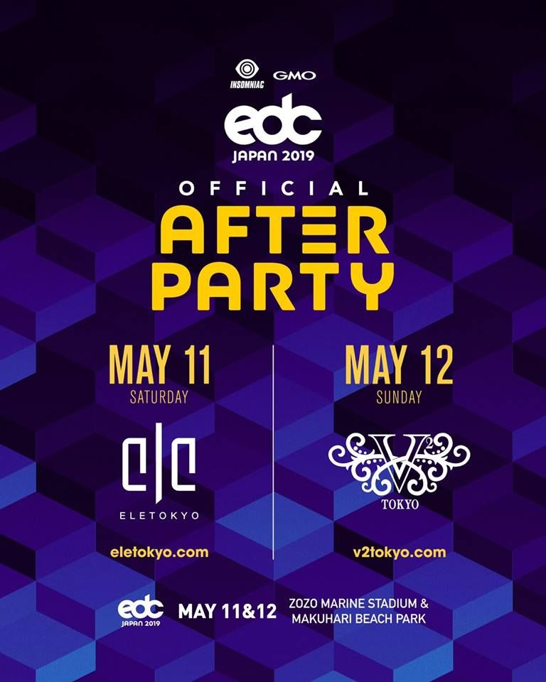 [ Electric Daisy Carnival - EDC Japan 2019 Official After Party』開催決定! ]