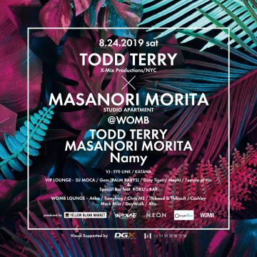 """TODD TERRY × MASANORI MORITA"" at WOMB Produced by YELLOW BLANK MARKET"