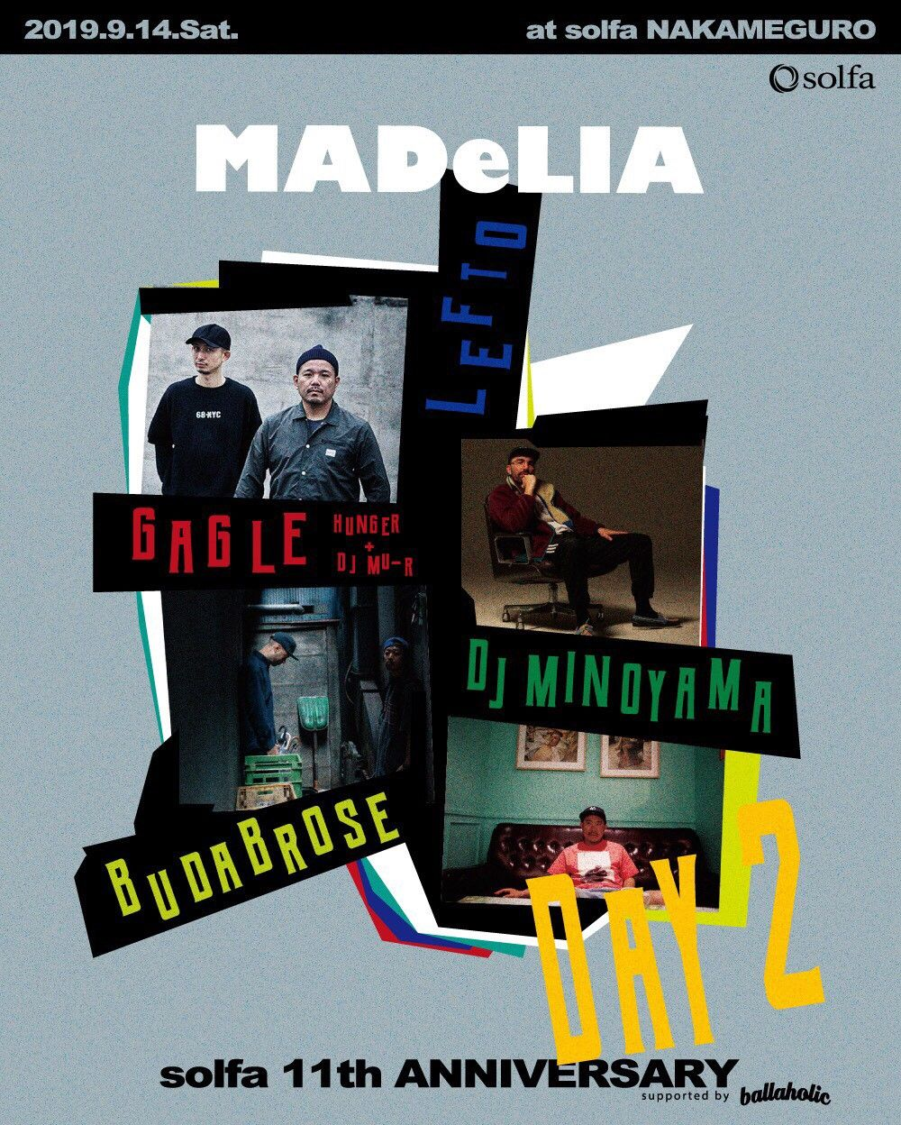"solfa 11th Anniversary -supported by ballaholic- DAY 2 ""MADeLIA"""