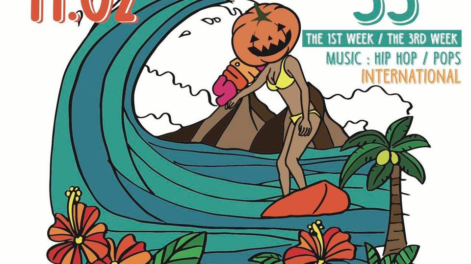 "Halloween SATURDAY SURFDISCO ""SS"""