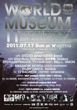 NEW WORLD PRODUCTIONS 20周年記念「WORLD MUSeUM」開催