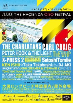 「THE HACIENDA OISO FESTIVAL」第2弾ラインナップにThe Whip、Carl Craigら21組追加