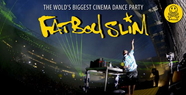 Fatboy Slimの「LIVE FROM THE BIG BEACH BOOTIQUE 2012」がスクリーンに帰ってくる。上映会+DJイベントが開催