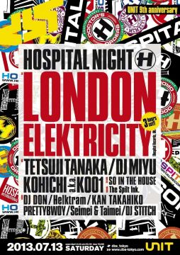 "「UNIT 9th Anniversary DBS presents ""HOSPITAL NIGHT""」前売りEチケット販売スタート"