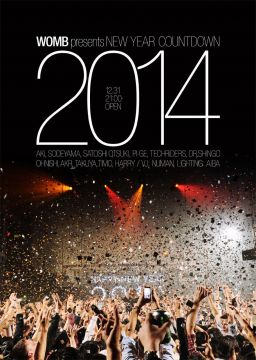 「WOMB PRESENTS NEW YEAR COUNTDOWN TO 2014」のゲストアーティストが変更。DANIEL BELLが登場