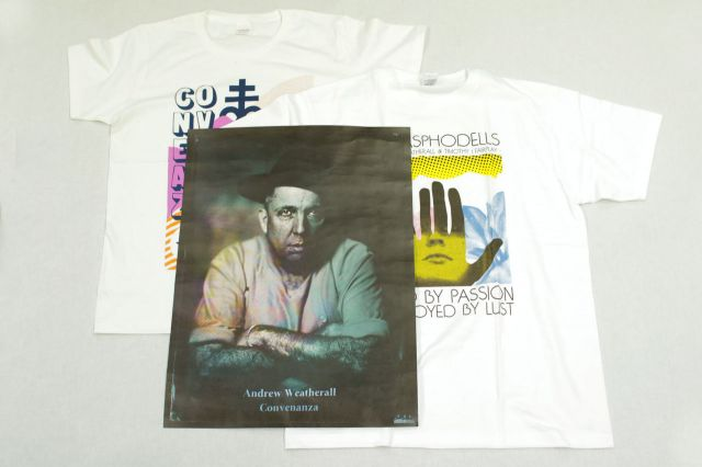 Andrew Weatherall 東京WOMB公演チケット購入者限定! Tシャツ、ポスターを抽選でプレゼント!